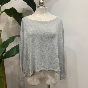 Athleta Gray Long Sleeve Top